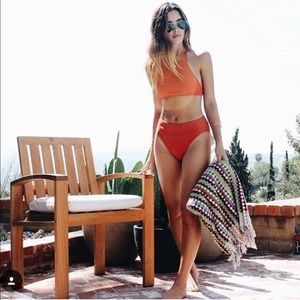 nastygal rust bikini bathing suit